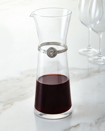 Monogrammed Wine Carafe
