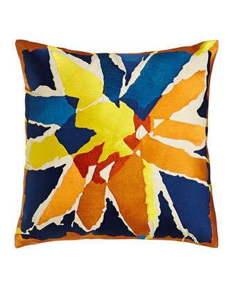 Bellflower Embroidered Pillow