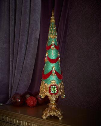 Jewel Sculpted Christmas Tree