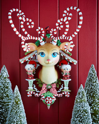 Retro Reindeer Wall Plaque