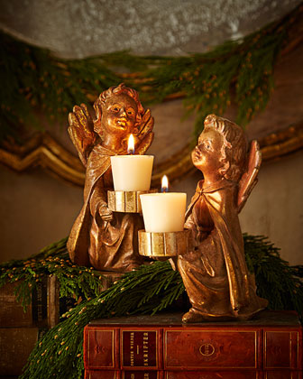 Angel Candleholders, Set of 2