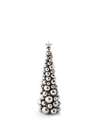 Silver-Ball & Gold-Glitter Christmas Trees