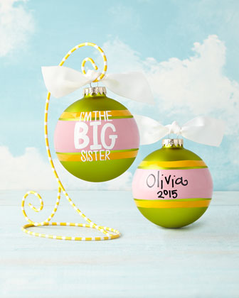 I'm The Big Sister Striped Christmas Ornament