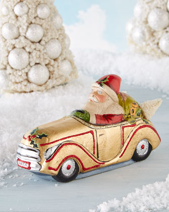 Santa in Car Figure