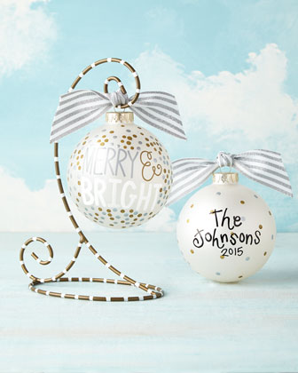 Merry & Bright Metallic Confetti Christmas Ornament