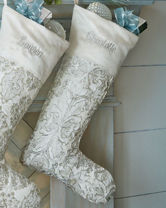 White Christmas Stockings