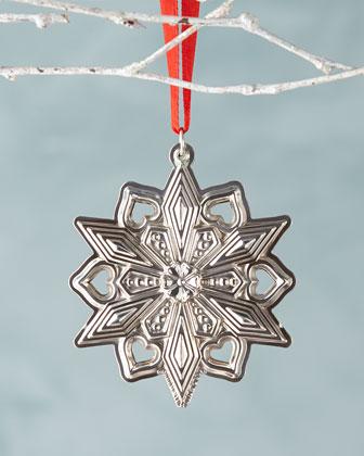 Gorham 2015 Sterling Silver Snowflake Ornament