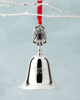 2015 Silver-Plated Bell Christmas Ornament
