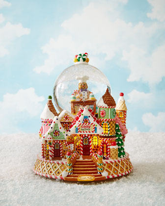 Gingerbread Factory Snowglobe