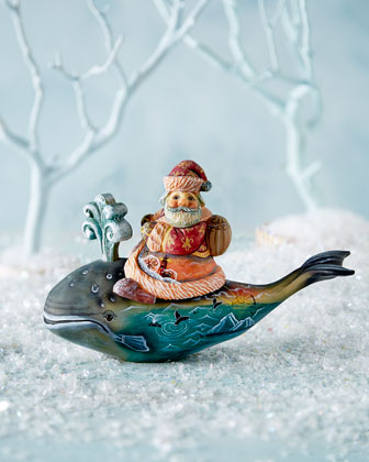Santa on Whale Surprise Box