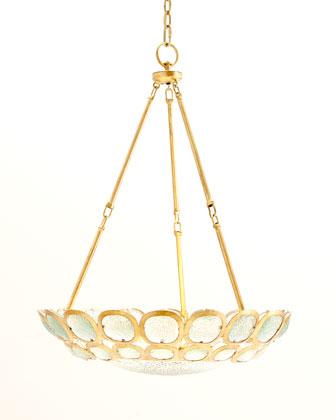 Textured-Glass 3-Light Pendant