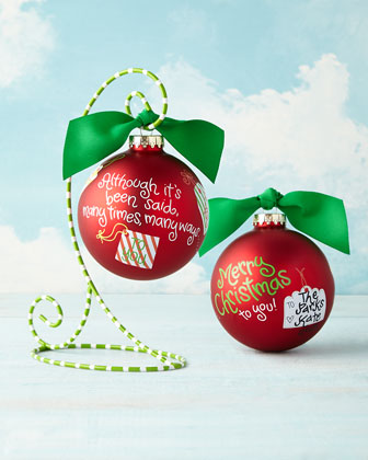Merry Christmas To You Christmas Ornament