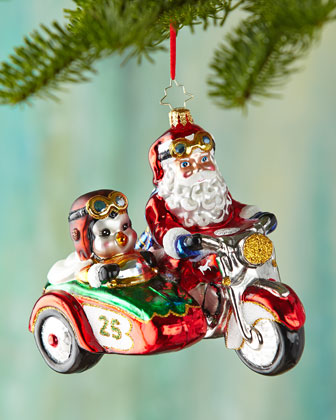 Motorcycle Chums Christmas Ornament