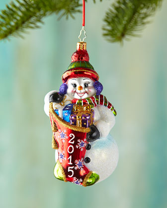 A Year to Give Christmas Ornament