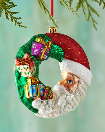 Crescent Christmas Presents Christmas Ornament