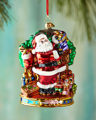 Straight to Work Santa Christmas Ornament