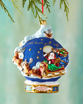 And to All a Goodnight! Ball Christmas Ornament