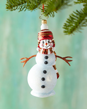 Country Frost Snowman Christmas Ornament
