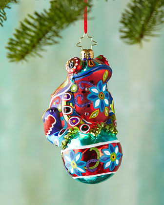 Froggy Deluxe Christmas Ornament