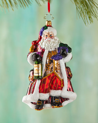 Off The Vine Cabernet Santa Christmas Ornament