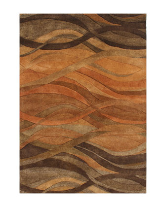Autumn Stripe Rug, 8' x 10'