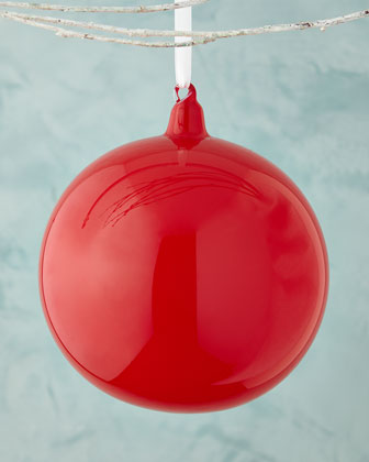 Red Large Bubble Gum Ball Christmas Ornament