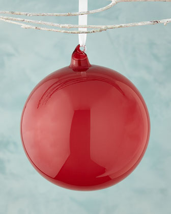 Red Bubble Gum Ball Christmas Ornament