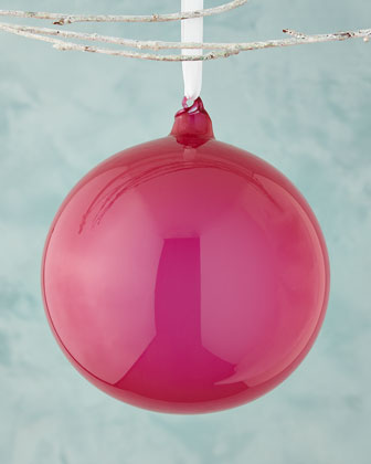 Rose Bubble Gum Ball Christmas Ornament