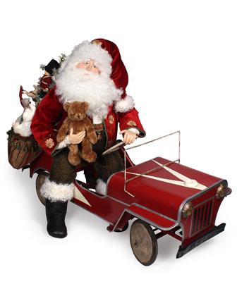 Vintage-Style Santa in Jeep