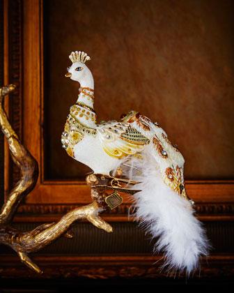 Peacock Clip Christmas Ornament