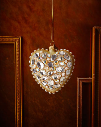 Bejweled Heart Christmas Ornament