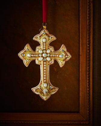 Medieval Cross Christmas Ornament