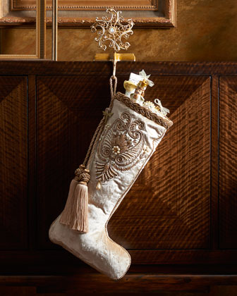 Pearl Paisley White Christmas Stocking