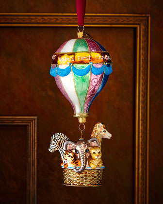 Baby's First Christmas - Hot Air Balloon Ornament