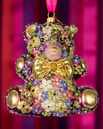 Mille Fiori Teddy Bear Christmas Ornament