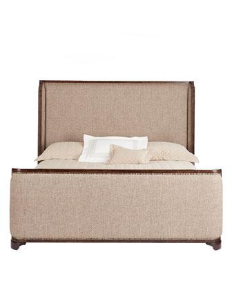 Edward Upholstered Bed & Karissa Nightstand