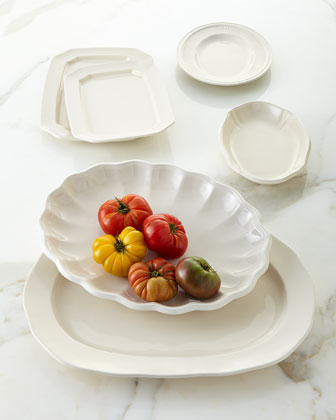 Assorted Creamware Platters, 6-Piece Set