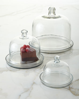 Cake and Pastry Domes, 3-Piece Set