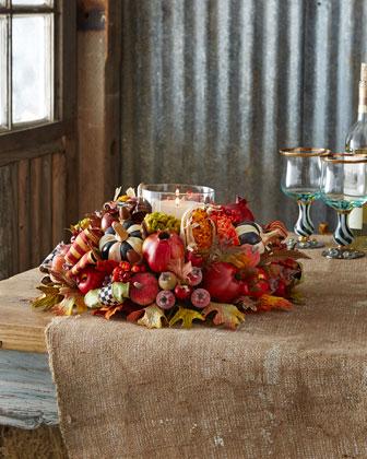 Autumn Harvest Candle Centerpiece