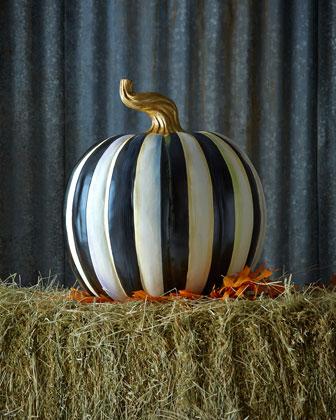 Courtly Stripe Large Pumpkin