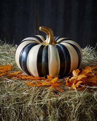 Courtly Check & Courtly Stripe Small Squash Pumpkins