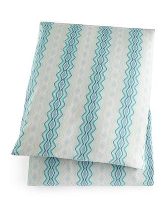 King Ocean Waves Print Duvet Cover