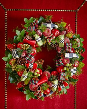 Courtly Christmas Wreaths