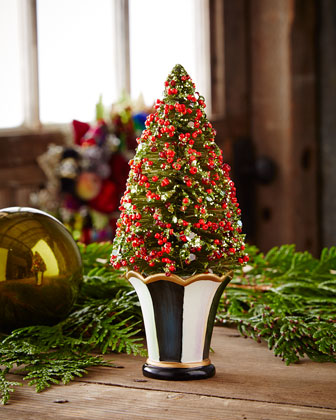 Courtly Christmas Brush Trees