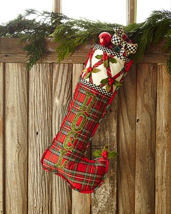 Tartan Yuletide Noel Christmas Stocking