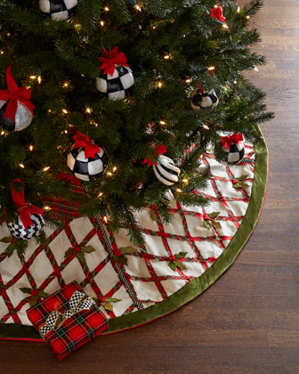 Tartan Yuletide Christmas Tree Skirt