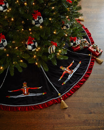 Nutcracker Christmas Tree Skirt