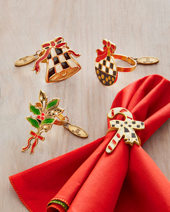 Courtly Noel Napkin Rings, 4-Piece Set