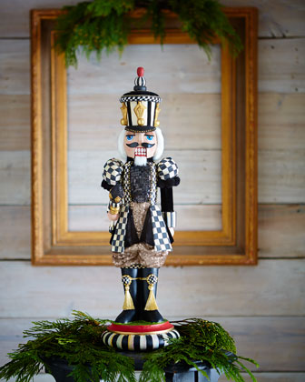Courtly Check Nutcracker Figurine