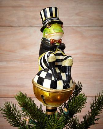Tuxedo Frog Christmas Tree Topper